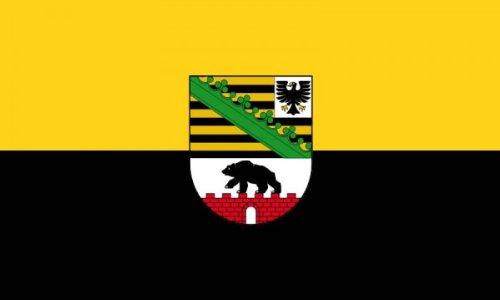 AZ FLAG Flagge Sachsen-Anhalt 150x90cm - Sachsen-Anhalt Fahne 90 x 150 cm - flaggen Top Qualität