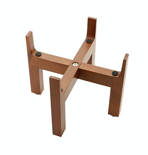 Slopper Stopper Elevated Dog Bowl Stand, Wooden Stand Only, 8 Inch, Bowl Edge Height 10
