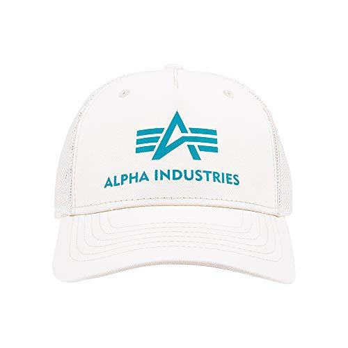 Alpha Industries Unisex Basic Trucker Cap Baseballkappe, Jet Stream White, Standard