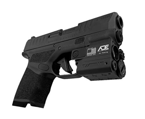 Ade Advanced Optics HG54 Plus-1 Green Laser+250 Lumen Flashlight Sight for SW SD9VE,Ruger Security 9,HK P2000sk,Taurus G2c,pt111 g2,Canik tp9sf,Springfield XD,Walther pk380,Glock Compact Handgun