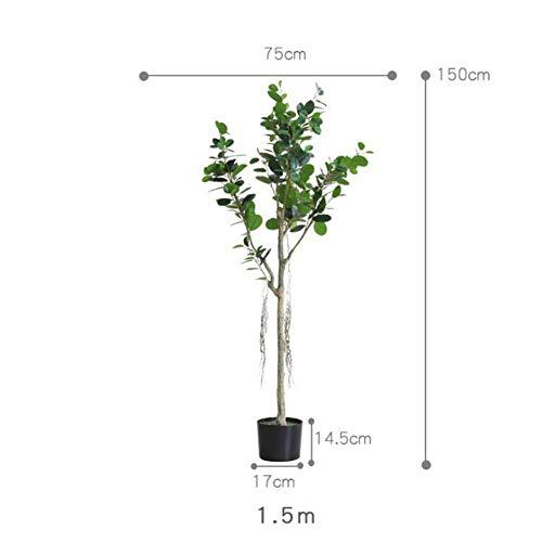 RUIZHISHUArtificial Plant Eucalyptus Fake Plant Binnen en buiten, Perfecte imitatie Kunstboom Familie Tuin Kantoor Shop Decoratie, 1.5M