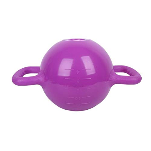 XMWW Kettle Bell Verstellbares Wasser Kettlebell Hantel Doppelgriffe Pilates Body Shaping Ausrüstung Yoga Fitness, Lila
