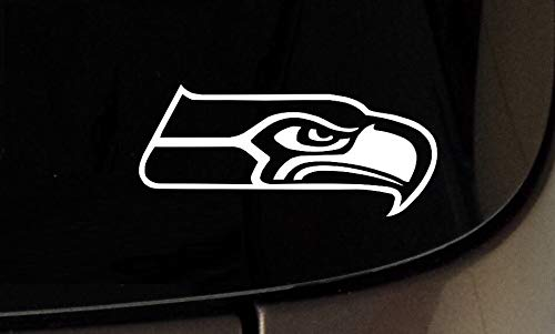 Yilooom Seattle Seahawks Seahawk Vinyl Car/Truck/SUV Window Wall Laptop Decals Stickers Funny Sticker for Car Truck Bike Window Sticker Vinyl Decal Vehicle Accessories - 6 Inches - 2 Pack