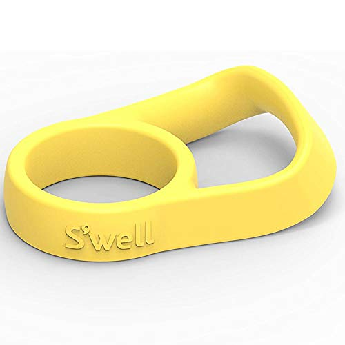 S'well Watter Flaschengriff – Gelb – passend für Flaschen mit 255 ml, 482 ml und 750 ml – bequeme Art, Ihren S'well unterwegs zu tragen, innovatives Design und flexibler Griff