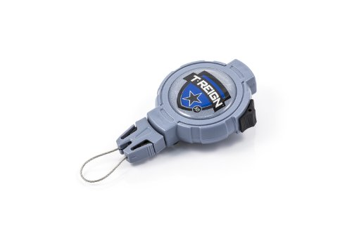 T-REIGN Haltevorrichtung mit Einzug bis 225 G Gürtelclip und Stopper - Corchos/Flotadores/Anzuelos de Pesca, Color Azul, Talla L