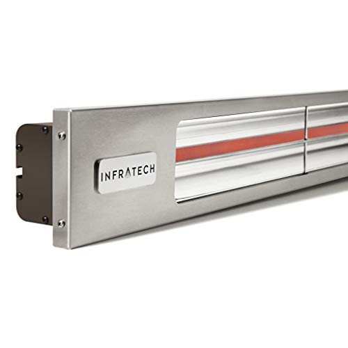 Find Discount Infratech SL1624B Slim Line - Single Element 1,600 Watt Patio Heater, Choose Finish: S...
