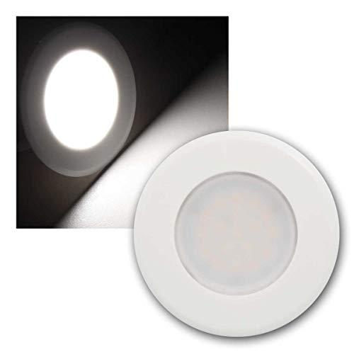 world-trading-net - Lámpara LED empotrada'WTN EBL-HV65' en blanco, color de la luz del día, 230V/2W, con transformador integrado