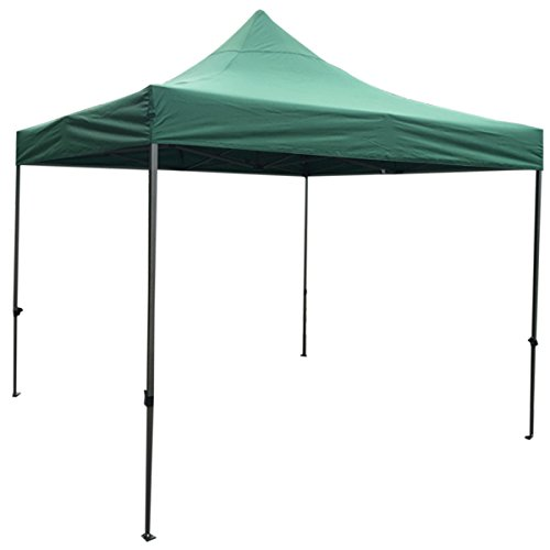 Above All Advertising, Inc. AAA Best K-Strong Outdoor Pop Up Canopy Tent 10' x 10', Portable Instant Canopy Shelter (Dark Green)