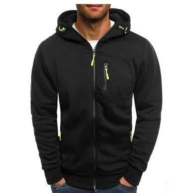 Frecoccialo Felpe con Cappuccio da Uomo Felpa con Cappuccio Slim Fit Outwear Maglione Caldo Jacket Giacche Sportive da Uomo (Nero, XXXL)