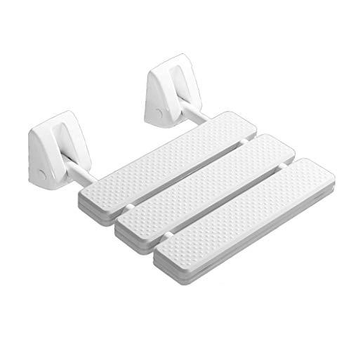 Taburete de ducha de teca Asiento de ducha de plástico baño para ancianos Taburete de baño para discapacitados Taburete de baño montado en la pared antideslizante Taburete de ducha para asiento de