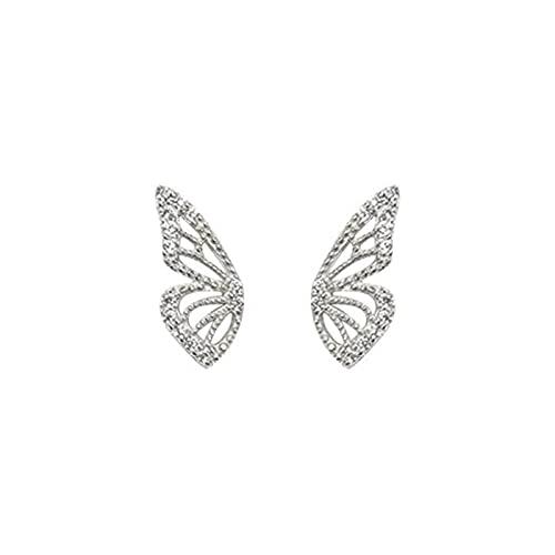 Pendientes Mujer Pendientes De Plata De Ley 925 Lindos Mini Pendientes con Diseño De Mariposa para Mujer Joyería De Regalo para Fiesta De Amantes Pendientes Silver 1
