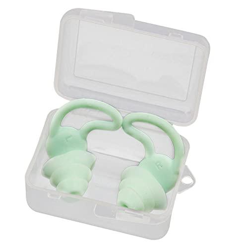 Tinked Tapones para los oídos para Nadar Tapones para los oídos de Silicona Suave Impermeable Reutilizable Tapones para los oídos para Nadar Adultos Reducción de Ruido Tapones par
