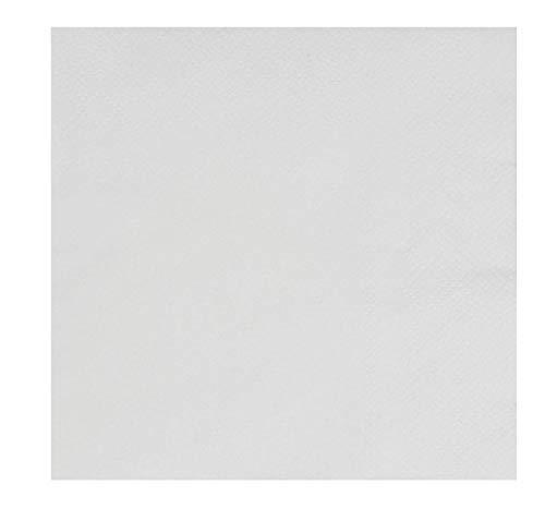 Tovaglioli bianchi da cocktail – Confezione da 500 tovaglioli di carta usa e getta, a 2 veli, bianchi, per feste, catering, ristoranti, buffet, piegati 12,7 x 12,7 cm