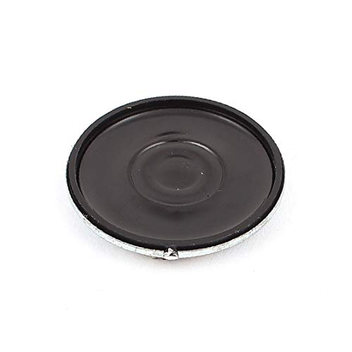 X-DREE 30mm 8 Ohm 0.5W Shell de aluminio Altavoz interno magnético Altavoz Silver Tone (Haut-parleur magnétique interne de 30mm 8 ohm 0.5W en aluminium Shell avec ton argent