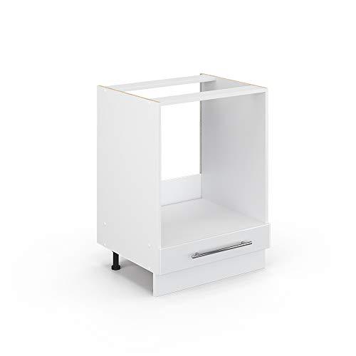 Vicco Küchenschrank Hängeschrank Unterschrank Küchenzeile Hochglanz Fame-Line (Weiß Hochglanz, Herdumbauschrank 60 cm)