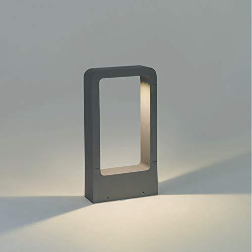 Topmo-plus Aussenleuchte Standlampe / 7W LED bridgelux COB Wegeleuchte Aluminium LED Gartenstrahler Bodenlampe IP65 Terasse/Garten/Korridor/Flurbeleuchtung 770LM (30CM Grau/naturweiß)