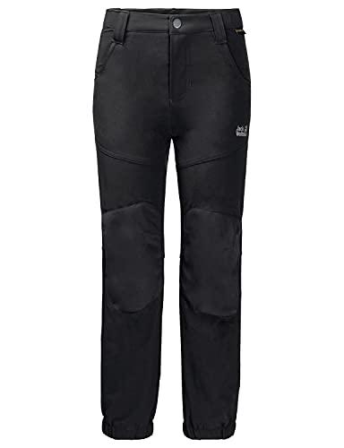 Jack Wolfskin Kinder Rascal Winter Pants Kids Atmungsaktiv Wind-und Wasserabweisend Softshell-Hose, schwarz (black), 140