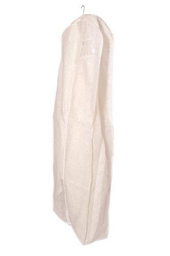 Deluxe PP Weiß Kleidersack Kleiderhülle Schutzhülle für Brautkleid Abendkleid Hochzeitskleid 183cm