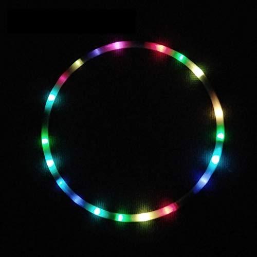WWWL Hula Hoop LED Colorido Fitness círculo Artes escénicas Abdominal pérdida de Grasa luz Fitness Crossfit Plegable Sport Hoop Gimnasio 80cm