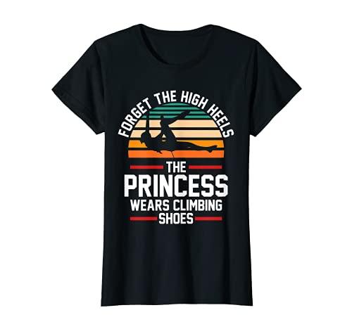 Mujer Rock Climber Zapato de escalada Princesa Camiseta