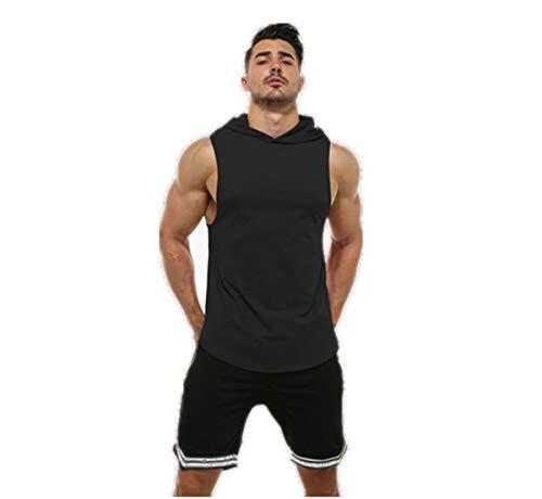 KODOO Uomo Bodybuilding Felpa Smanicata con Cappuccio Canotte Sport Canottiera da Palestra Gym Tank Top