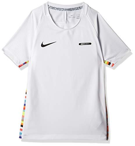 NIKE Camiseta Unisex para niños Dry Cr7, Unisex niños, Camiseta para niños, AQ3310, Blanco/Blanco/Negro/Negro, XL