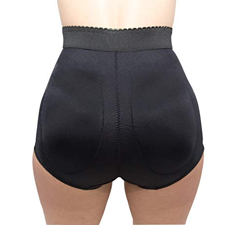 Rago Style 915 - High Waist Padded Panty Soft Control, Black, M/28