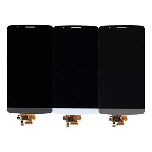 Un known Teléfono móvil reemplazable LCD for LG G3 Pantalla LCD de Pantalla táctil digitalizador for LG G3 Pantalla LCD de Repuesto d855 D850 D851 Partes de máquina (Color : White, Size : 5.5
