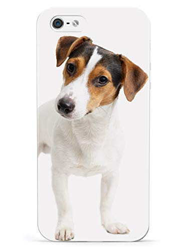 Inspired Cases - 3D Textured iPhone 5/5s/5SE Case - Rubber Bumper Cover - Protective Phone Case for Apple iPhone 5/5s/5SE - Jack Russell Terrier Puppy