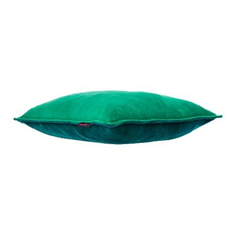 Farbenfreunde Interieur Nicky Twins Kissenhülle, Zweifarbige Kissen Hülle ohne Füllung, Kissen Bezug, Baumwolle/Polyester, Bergsee - Winterpetrol, 50 x 50 cm, 10165050144109