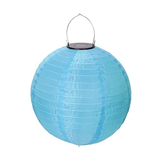 Luces solares para jardín al aire libre, 30 cm, cadena de luces de Navidad, decoración LED (azul)