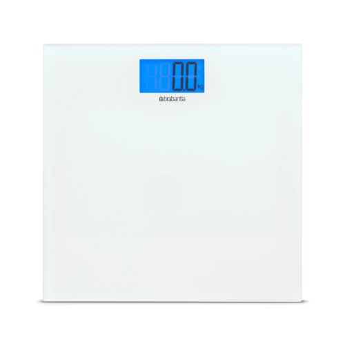 Brabantia 483127 - Báscula de baño digital, vidrio, color blanco