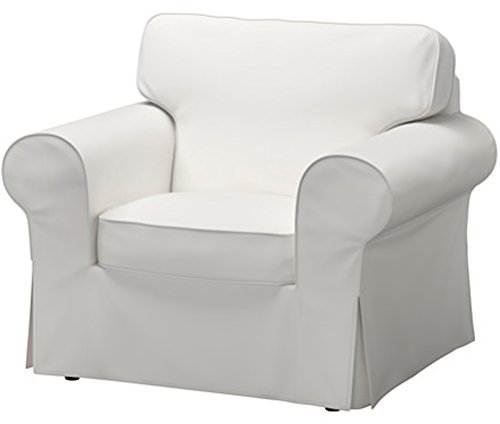 The Dense Cotton Ektorp Chair Cover Replacement is Custom Made Compatible for IKEA Ektorp Armchair Cover,One Seat Sofa Slipcover Replacement (White)