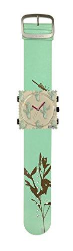 S.T.A.M.P.S. Stamps Uhr KOMPLETT - Zifferblatt Kaktus Party mit Lederarmband Natural Zen