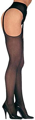 Leg Avenue femmes jarretelles collants en noir une taille unique d'environ 34 à 40