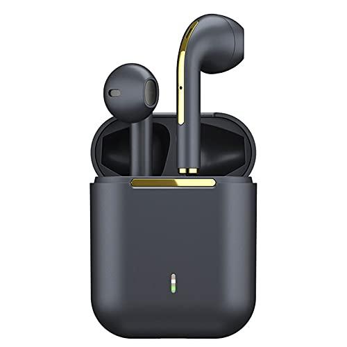 ZEIYUQI Auriculares InaláMbricos TWS,Auriculares Bluetooth,Auriculares,Auriculares Inalámbricos Verdaderos Auriculares Manos Libres,Black
