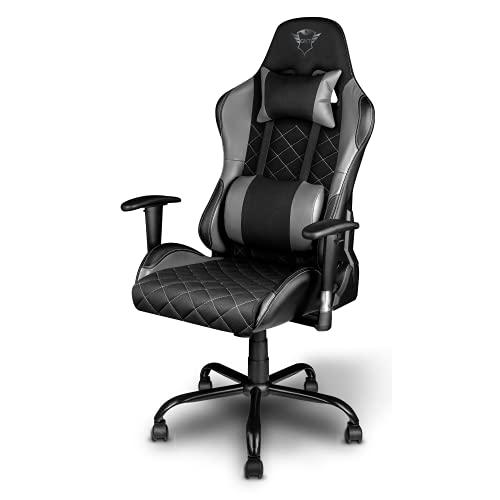 Trust Gaming GXT 707G - Resto Sedia da PC, Girevole a 360 gradi con cuscini rimovibili, Peso massimo 150 kg, Grigio/Nero