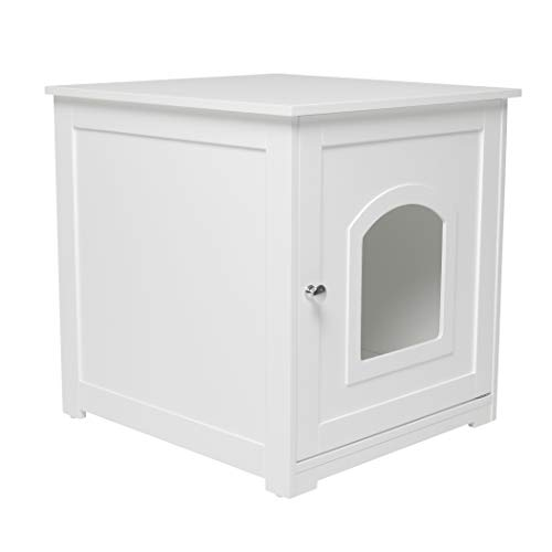 zoovilla Kitty Litter Loo – Hidden Litter Box Furniture, White