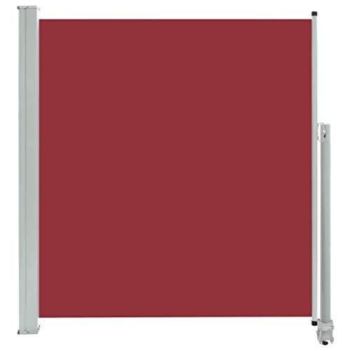 vidaXL Seitenmarkise Ausziehbar Sonnenschutz Sichtschutz Windschutz Seitenrollo Markise Seitenwandmarkise Balkon Garten Terrasse 140x300cm Rot