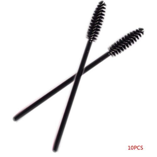 Junecat 10PCS de una Sola Vez desechable de pestañas Mini Cepillo del aplicador del rimel Varita cepillos del Maquillaje de los Ojos Cuidado Estilo Herramientas