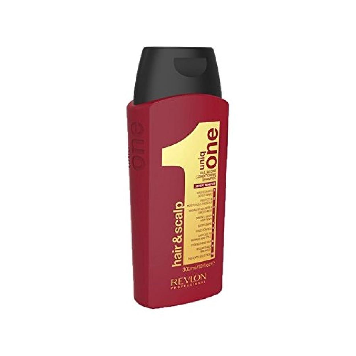 論理すすり泣きどんなときもUniq One Hair And Scalp Conditioning Shampoo (300ml) (Pack of 6) - の1回の髪と頭皮コンディショニングシャンプー(300ミリリットル) x6 [並行輸入品]