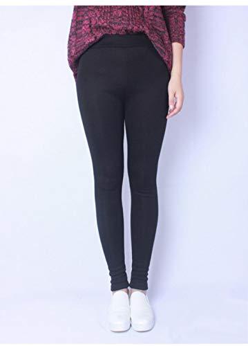 UKKD Leggins mujer Velvet Leggings De Invierno Mujeres Alto Super Stretch Casual Women'S Pantalones Slim Plus Tamaño,Negro,4Xl.