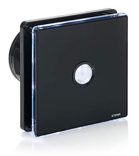 STERR BFS100LP-B Badkamerventilator met ledverlichting en PIR-bewegingsmelder, zwart