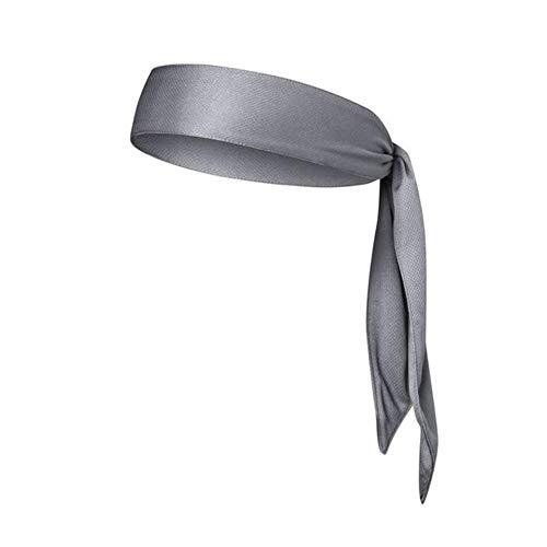 Gouen Head Tie Quick Elastic Drying Zweetabsorptie Sport Hoofdband Haarband Zweetband Voor Hardlopen in de buitenlucht Tennis Fitness yoga, Lichtgrijs