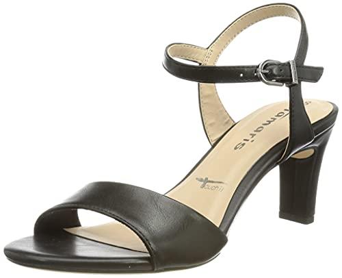 Tamaris Femmes Sandale à Talon 1-1-28008-26 020 Noir Normal Taille: 37 EU