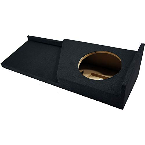 Compatible with Chevy Silverado or GMC Sierra Full Size Extended Cab Truck 2007-2013 Single 10' Subwoofer Sub Box Speaker Enclosure
