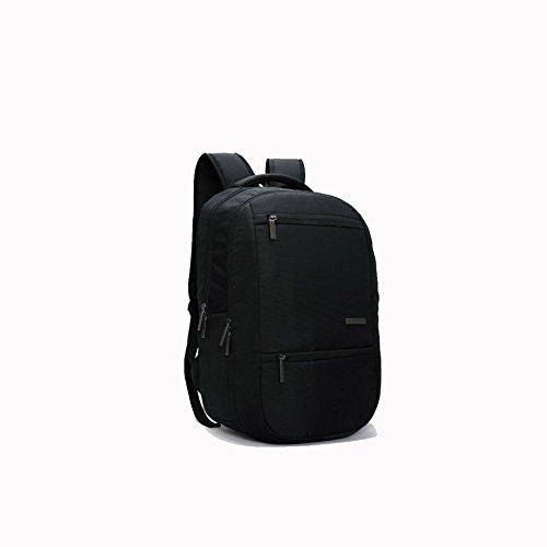 ZXJ 15,6 Pouces Grande capacité Ordinateur Portable Sac à Dos Étudiant Sac à Dos Affaires Loisir Voyage Imperméable Épaules Forfait, Black