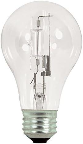 Satco 72A19 HAL ES CL 120V 2PK Halogen Type A 72W E26 A19 12 Clear Bulbs product image
