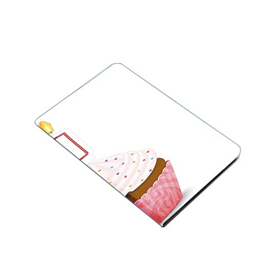 iPad Air 10.5' (3rd Gen) 2019 / iPad Pro 10.5' 2017 Smart Case Cover - Kitchen Cuisine Inspired Pastry Cupcake Party with Candle Ultra Slim Lightweight Stand Case with PU Leather Stand Folio Case, wit