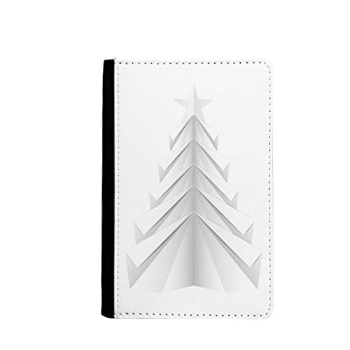 beatChong White Abstract Weihnachtsbaum Origami-Pass-Halter Travel Wallet Abdeckungs-Fall Karten-Geldbeutel